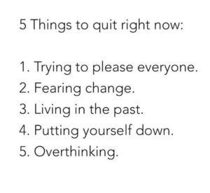 5 Things to Quit | rashon