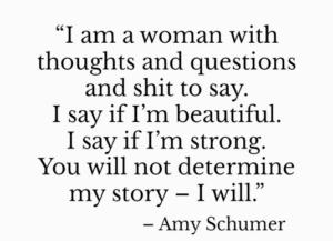 Amy Schumer | Monday Moxie | rashon